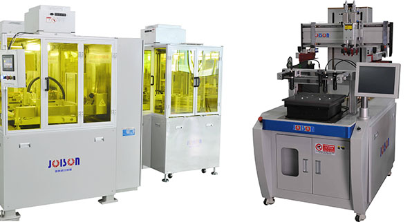 Touch screen printing machine