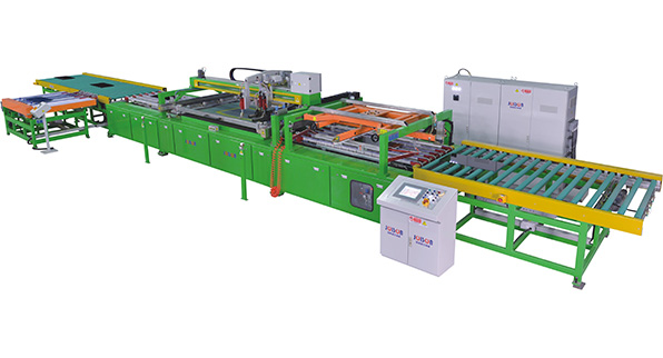 Automotive sidelite screen printing line